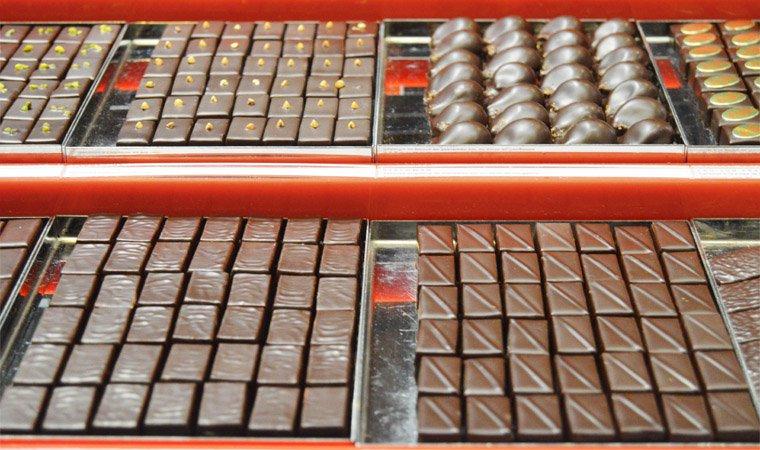 Bonbons de chocolat chez Henri Le Roux