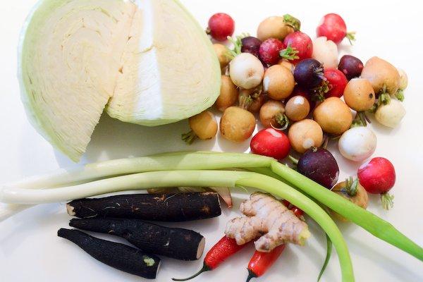 Kimchi facile: légumes