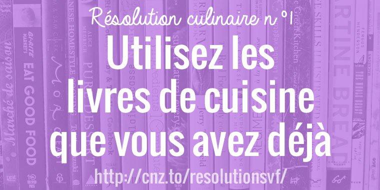 Utilisez vos livres de cuisine