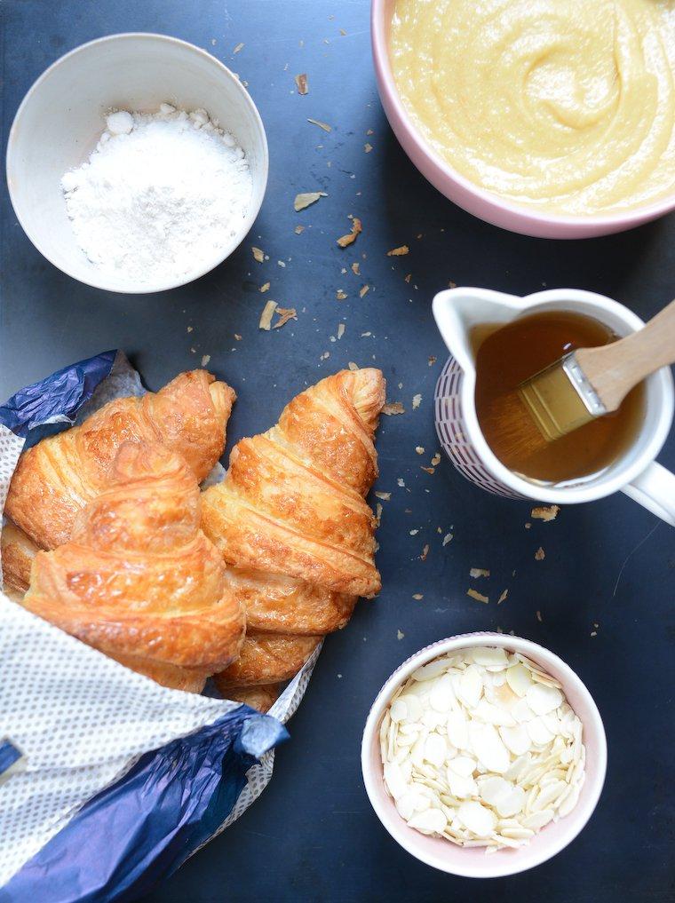 Croissants aux amandes : Ingrédients