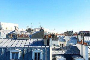 Toits parisiens près de Bastille