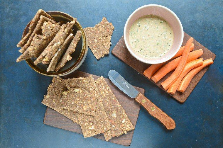 Crackers crus de sarrasin aux amandes Recette