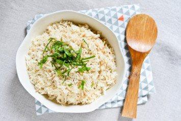 Riz à la noix de coco et aux épices au rice cooker
