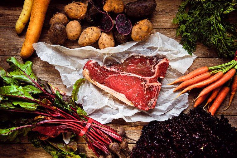 Viande et légumes
