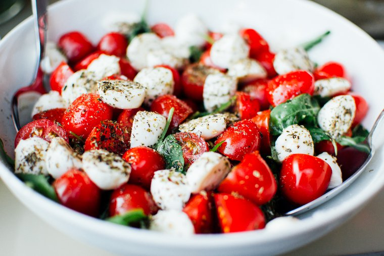 Salade tomate mozza