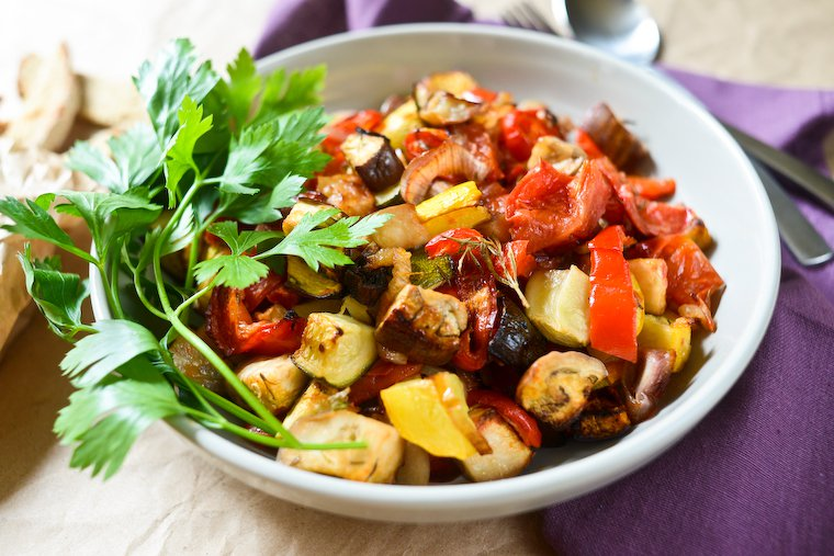 Ratatouille rôtie au four