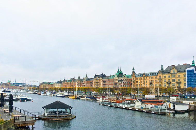 La vue depuis Djurgårdsbron