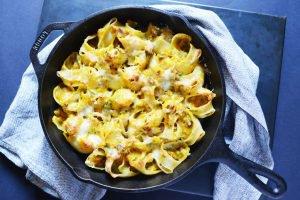 Lumaconi farcis, courge butternut et châtaigne