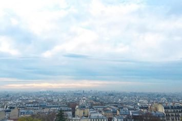 La vue depuis le parvis du Sacré-Coeur un matin de novembre.