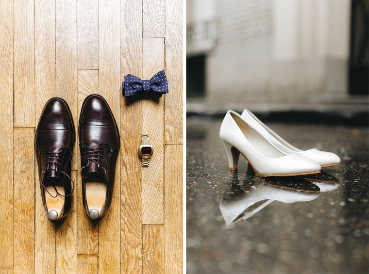 Chaussures de mariage : le marié et la mariée