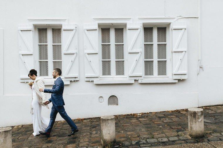 Les mariés à Montmartre