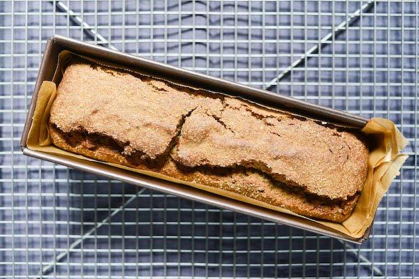 Quatre-quarts sarrasin et chocolat - Cuit