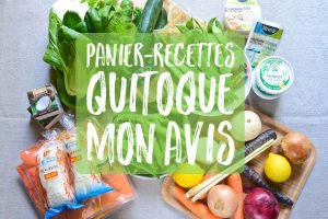 Panier-recettes Quitoque : Mon avis