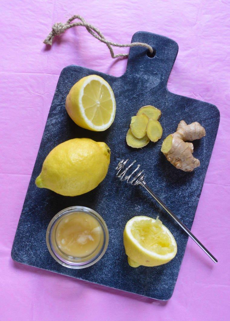 Limonade pétillante au gingembre et au miel