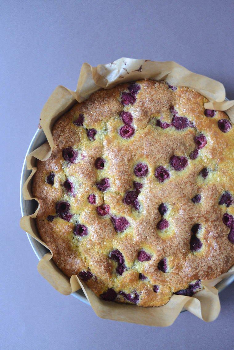 Gâteau au yaourt à la framboise