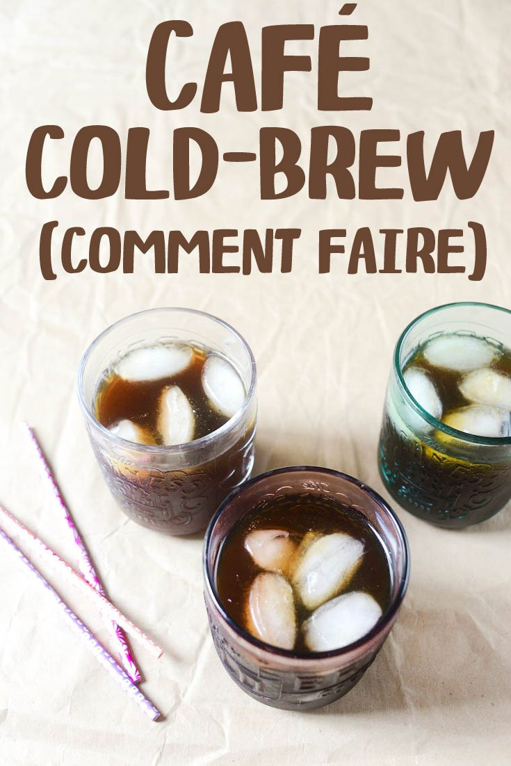 Café cold-brew (café glacé)