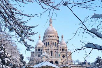 Le Sacré-Coeur sous la neige