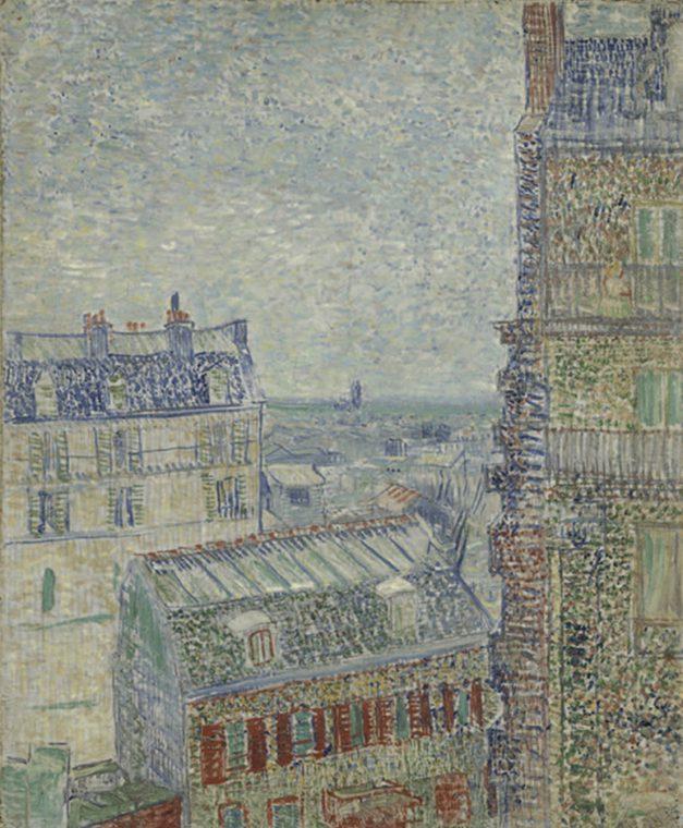 Vincent Van Gogh, Vue depuis l'appartement de Theo, 1887.