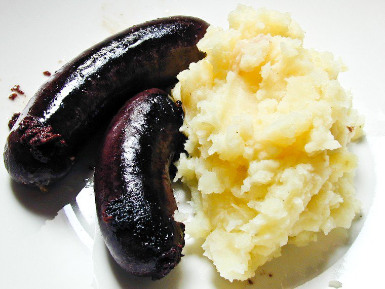Boudin and Mashed Potatoes