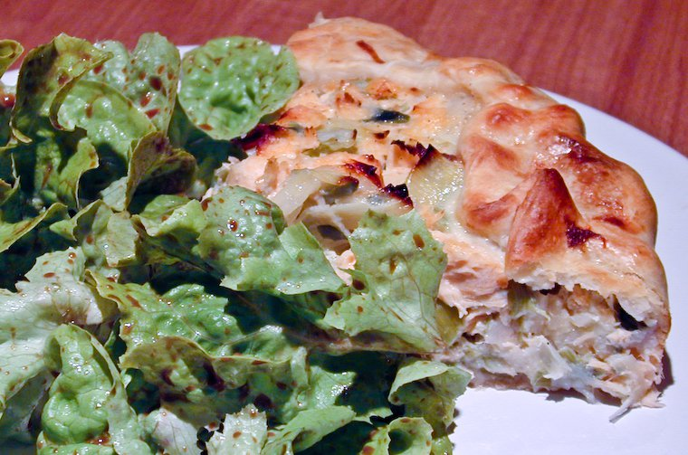 Salmon & Leek Quiche Recipe