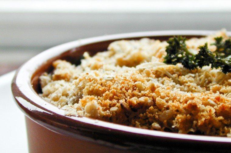 Zucchini and Mushroom Crumble Recipe