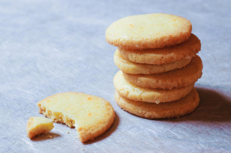 Lemon and Fleur de Sel Butter Cookies Recipe