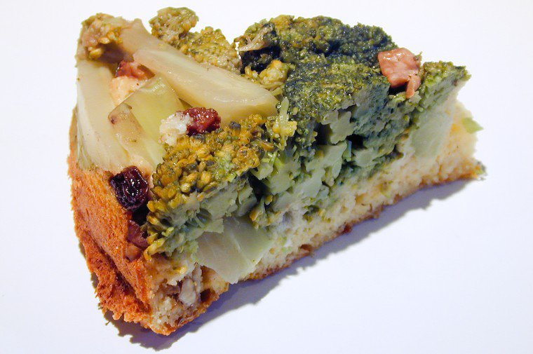 Upside Down Broccoli and Cornmeal Cake