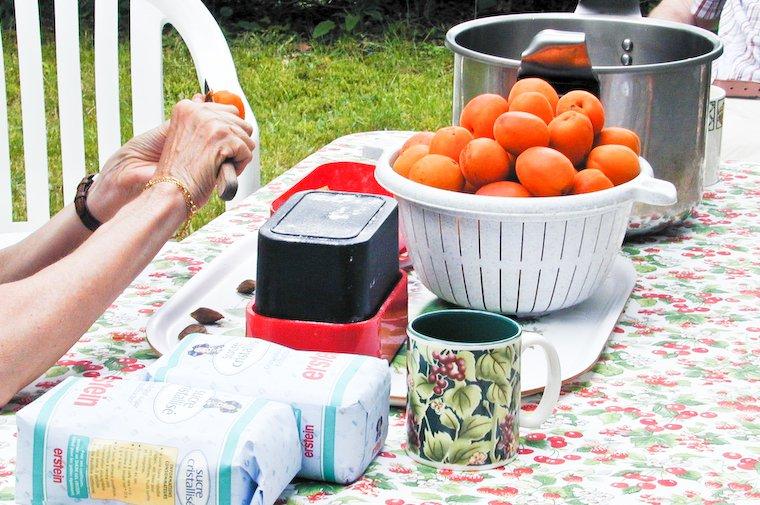 Prepping for jam-making