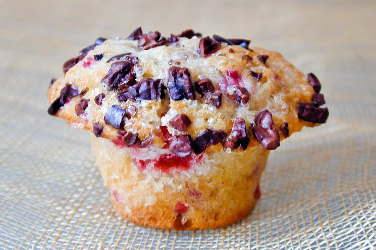 Raspberry Muffins with Cacao Nibs Recipe