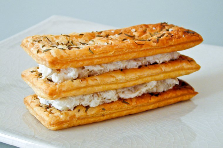 Goat Cheese and Artichoke Mille-Feuille