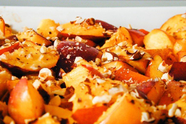 Hazelnut and Nectarine Gratin Recipe