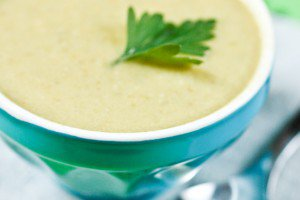 Green Bean and Almond Soup, a favorite from popular Paris café Rose bakery. Such delicate flavors!