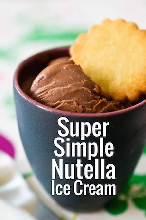 Addicted to Nutella? Try this amazingly easy Nutella ice cream with just two ingredients!