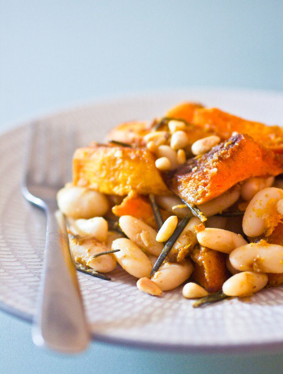 Warm Hokkaido Squash and White Bean Salad Recipe