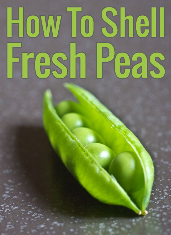 How To Shell Fresh Peas