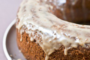 Banana Pecan Cake with Maple Glaze