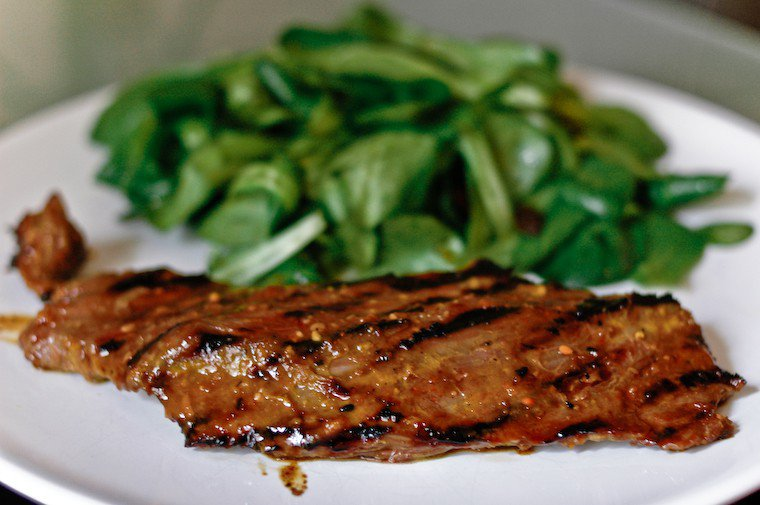 Miso Glazed Flank Steak Recipe