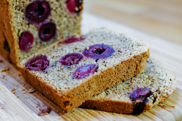 Cherry Hazelnut Loaf Cake Recipe