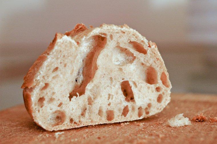 Baguette : crumb