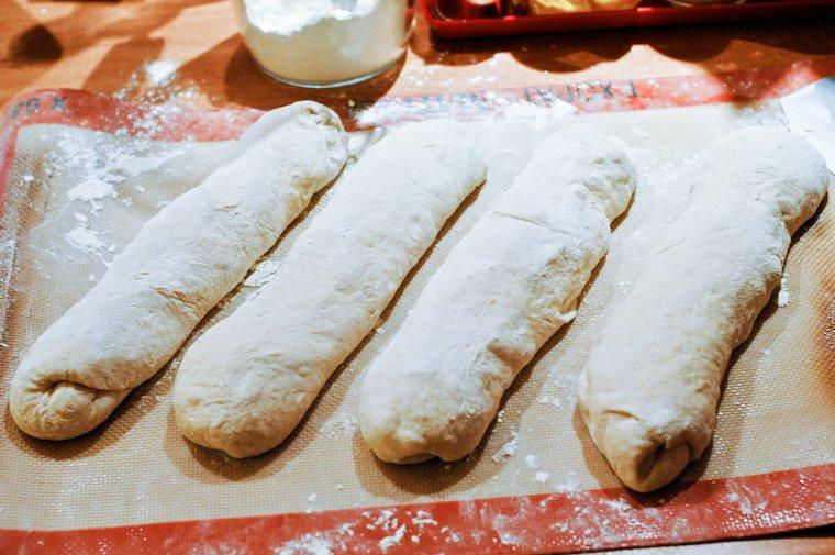 Baguettes, shaped