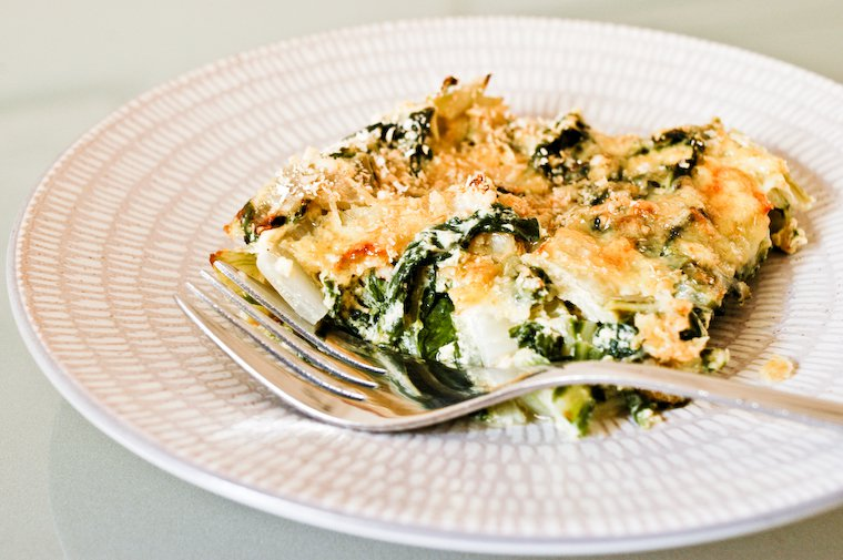 Swiss Chard Gratin with Vegan Bechamel Recipe