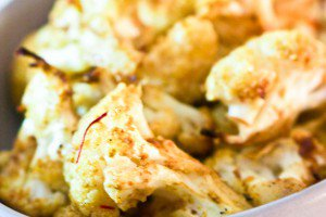 Saffron-Roasted Cauliflower