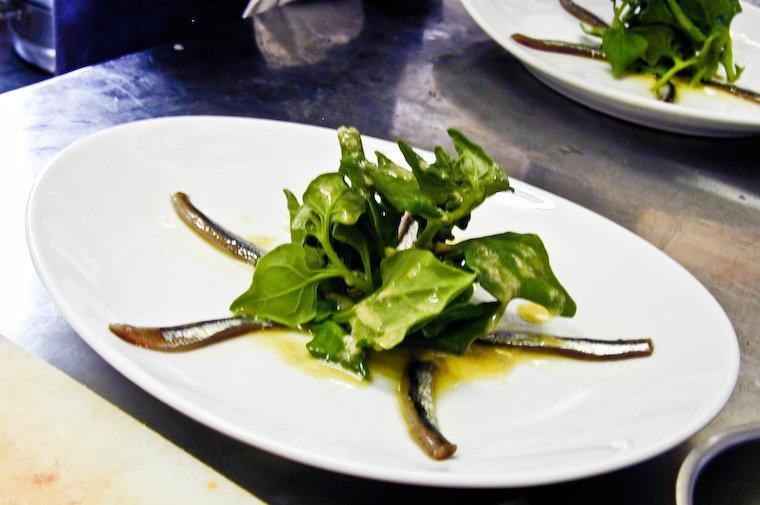 Tetragon with sardines