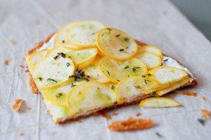 Yellow Zucchini Tarte Fine