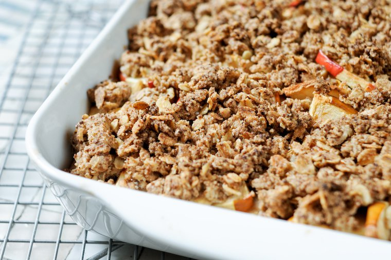 healthy fruit crumble topping is an eggplant a fruit