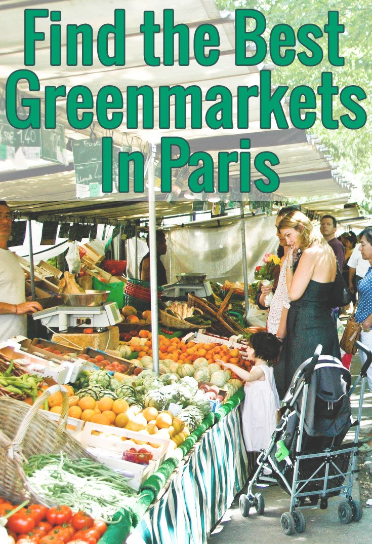 While in Paris, don't miss the unique experience of visiting a greenmarket! Use our handy list of food markets in Paris to find the one nearest you.