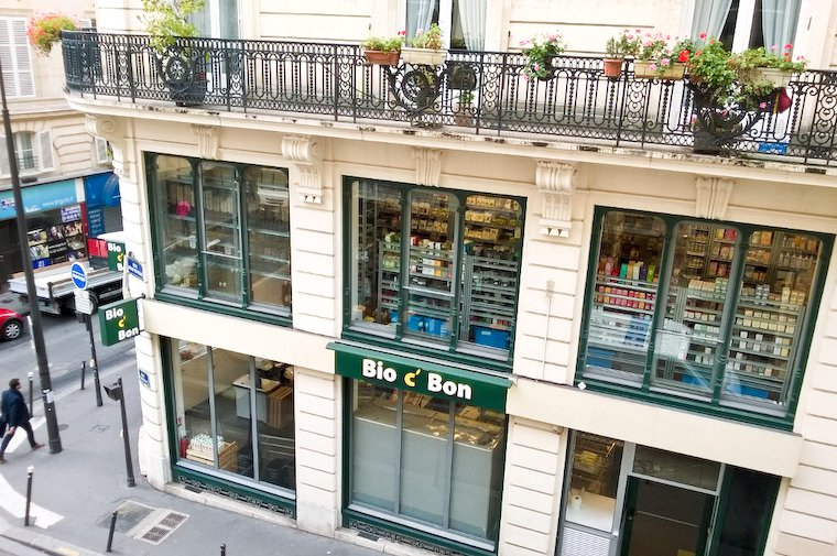 Bio C' Bon organic store on rue d'Hauteville in the 10th