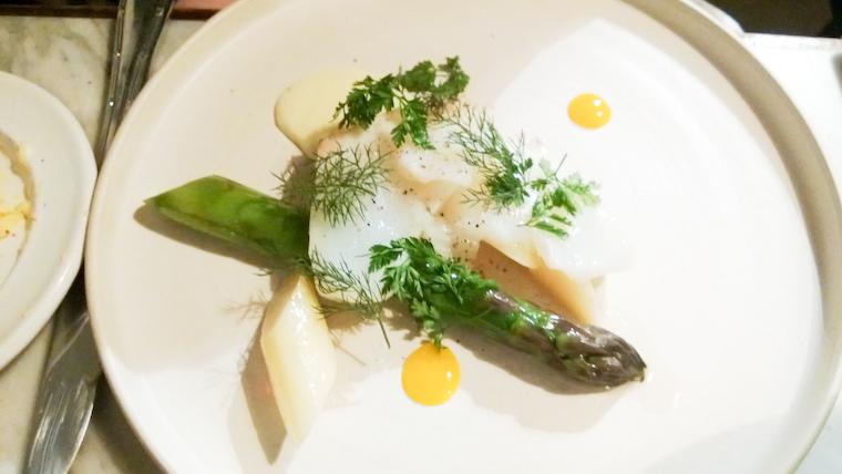 Salt cod / Asparagus / Egg