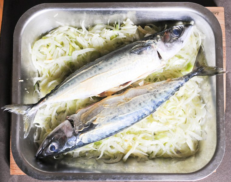 Roasted Mustard Mackerel with Fennel