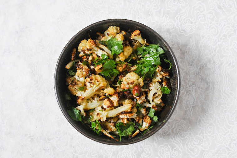 Roasted Cauliflower à la Mary Celeste